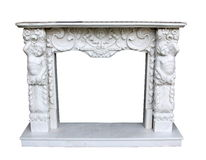 Fireplace decorated Stock Photography