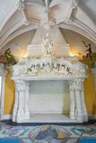 Fireplace in the dining room of Quinta da Regaleira Stock Photo