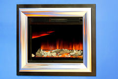 Fireplace electronic Stock Photos