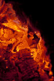 Fireplace ember Stock Photo