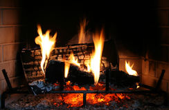 Fireplace fire Royalty Free Stock Photography