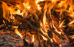 Fireplace Fire Stock Images