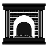 Fireplace for fire icon, simple style. Fireplace for fire icon. Simple illustration of fireplace for fire vector icon for web Stock Images