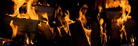 Fireplace flames Royalty Free Stock Image