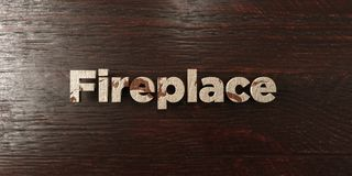Fireplace - grungy wooden headline on Maple  - 3D rendered royalty free stock image. This image can be used for an online website banner ad or a print postcard Royalty Free Stock Images