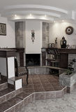 Fireplace in a hall. Stock Photo