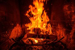 Fireplace Heat Stock Photography