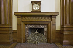 Fireplace in Historic Courthouse Building Royalty Free Stock Photo