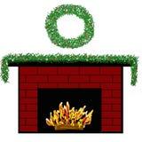fireplace holiday Στοκ εικόνες με δικαίωμα ελεύθερης χρήσης