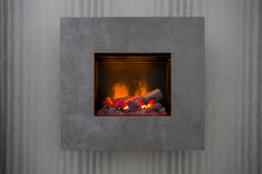 Fireplace. Home interior fire beauty Royalty Free Stock Image