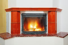 Fireplace in house interior Royalty Free Stock Photography