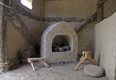 Fireplace in hut. A fireplace in an old hut Royalty Free Stock Photo