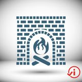 Fireplace icon stock vector illustration flat design. Icon stock vector illustration flat design style Stock Photo