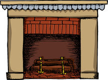 Fireplace Illustration Royalty Free Stock Images
