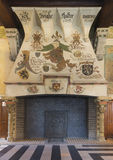 Fireplace inside Ghent Belfry, Belgium. Royalty Free Stock Images