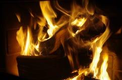 Fireplace inside Royalty Free Stock Photos