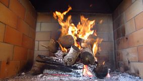 Fireplace stock video