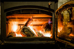 Fireplace interior Stock Photography