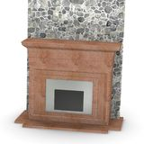 Fireplace (isolated). 3d render of fireplace (isolated Stock Photos