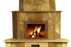 Fireplace isolated Royalty Free Stock Photos