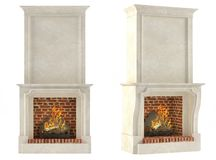 Fireplace isolated. At the white background Royalty Free Stock Images