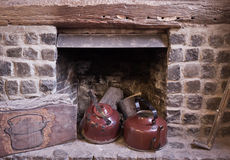 Fireplace kettle Royalty Free Stock Photography