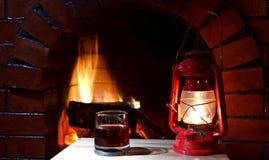 Fireplace lantern Stock Image