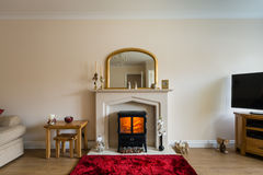 Fireplace in Living Room Royalty Free Stock Photography