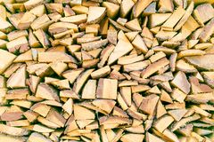 Fireplace log pieces. Heap of fireplace log pieces texture background Stock Photos