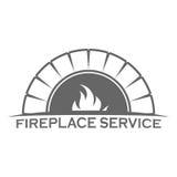 Fireplace logo design template. Vector eps 10 Stock Photos