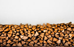 Fireplace logs background. Winter heap Stock Images