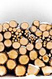 Fireplace logs. Winter Stock Images