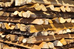Fireplace logs for winter time Royalty Free Stock Photography