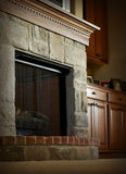 Fireplace Mantel Royalty Free Stock Photography