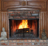 Fireplace and Mantle Royalty Free Stock Photography