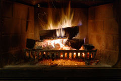 Fireplace. In a new house Royalty Free Stock Photo