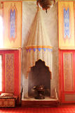 Fireplace in the recreation room. At the Palace of Bakhchisarai. Crimea Stock Photo