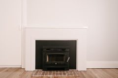 Fireplace renovated with a new combustion oven Stock Image