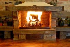Fireplace retro Stock Image