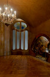 Fireplace room. Casa Battlo fireplace room with a window Royalty Free Stock Photography