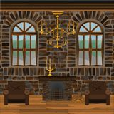 Fireplace Hall stock illustration