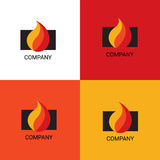 Fireplace services or selling company logo. Vector eps logo design for fireplace services or store company Royalty Free Stock Photography