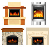 Fireplace set Stock Photo