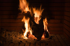 Fireplace shape of a hearth Royalty Free Stock Image