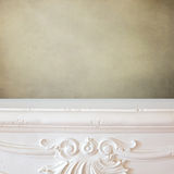 Fireplace shelf background for display montage of new product Royalty Free Stock Photos