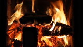 By the fireplace stock footage