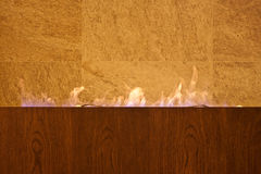 Fireplace. In a SPA centre stock photography