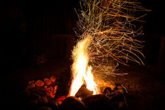 Fireplace with sparks Royalty Free Stock Images