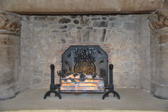 Fireplace from Sterling Castle Stock Photography