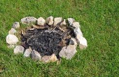 Fireplace of stone Stock Photo